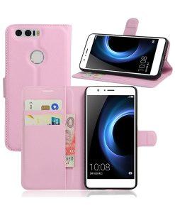 Huawei Honor 8 Book Style Suojakotelo, Pink.
