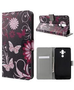 Huawei Mate 9 Wallet Case Suojakotelo, Butterfly.