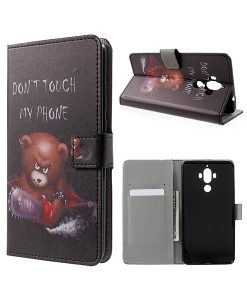 Huawei Mate 9 Wallet Case Suojakotelo, Cool Bear.