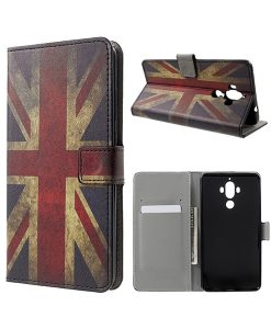 Huawei Mate 9 Wallet Case Suojakotelo, UK Flag.