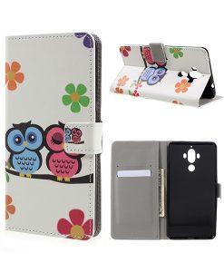 Huawei Mate 9 Wallet Case Suojakotelo, Owls 2.