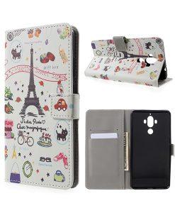 Huawei Mate 9 Wallet Case Suojakotelo, Eiffel Tower.