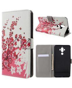 Huawei Mate 9 Wallet Case Suojakotelo, Pink Plum.
