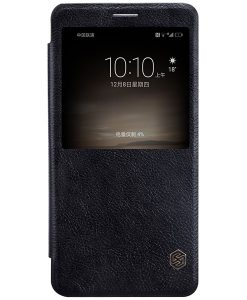 Huawei Mate 9 NILLKIN Qin Smart Cover, Musta.