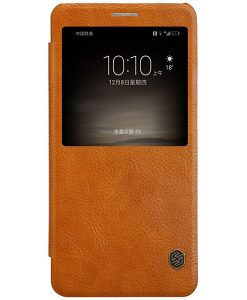 Huawei Mate 9 NILLKIN Qin Smart Cover, Ruskea.