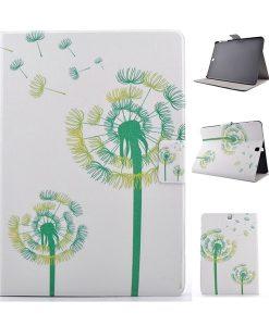 Samsung Galaxy Tab S2 9.7 Wallet Cover, Green Dandelion.