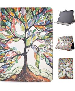 Samsung Galaxy Tab S2 9.7 Wallet Cover, Colorful Tree.
