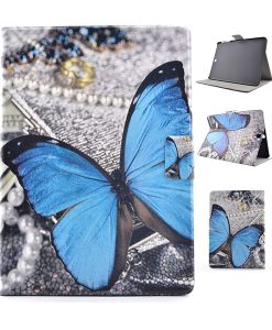 Samsung Galaxy Tab S2 9.7 Wallet Cover, Blue Butterfly.