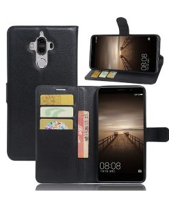 Huawei Mate 9 Lychee Grain Suojakotelo, Musta..