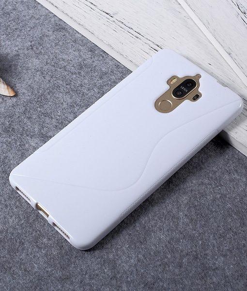 Huawei Mate 9 TPU S Shape Suojakuori, Valkoinen.