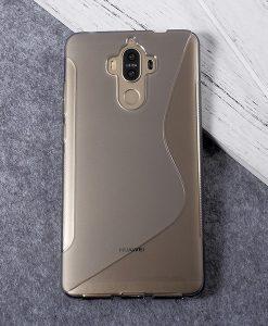 Huawei Mate 9 TPU S Shape Suojakuori, Harmaa.