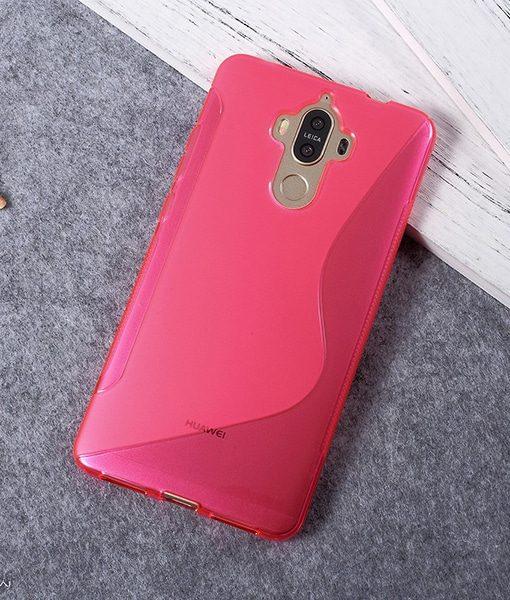Huawei Mate 9 TPU S Shape Suojakuori, Pink.