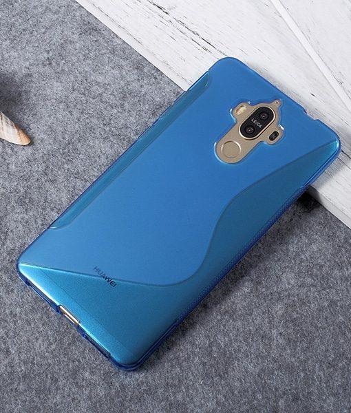 Huawei Mate 9 TPU S Shape Suojakuori, Sininen.