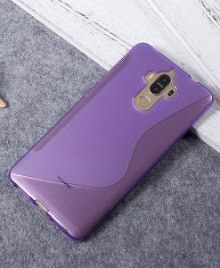 Huawei Mate 9 TPU S Shape Suojakuori, Lila.