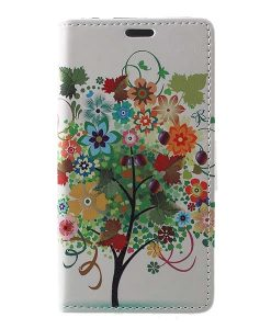 Huawei Honor 8 Lite Leather Folio Case, Colorized Tree.