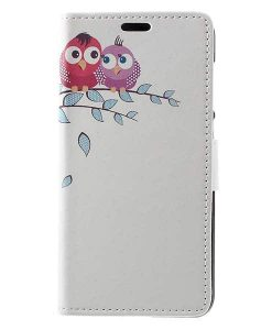 Huawei Honor 8 Lite Leather Folio Case, Owls.
