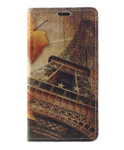Huawei Honor 8 Lite Leather Folio Case, Eiffel Tower.