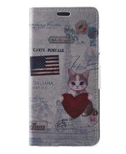 Huawei Honor 8 Lite Leather Folio Case, US Flag.