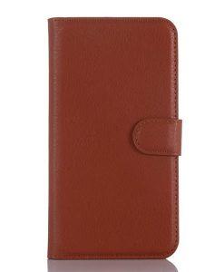 ZTE Axon mini Wallet Case Suojakotelo, Ruskea.