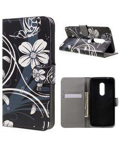 ZTE Axon 7 Wallet Cover Suojakotelo, Elegant Flowers.