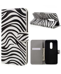 ZTE Axon 7 Wallet Cover Suojakotelo, Zebra Stripes.