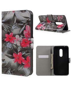 ZTE Axon 7 Wallet Cover Suojakotelo, Vivid Flowers.