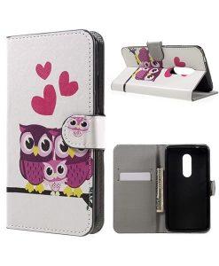 ZTE Axon 7 Wallet Cover Suojakotelo, Owls 2.
