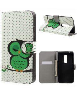 ZTE Axon 7 Wallet Cover Suojakotelo, Owl 1.