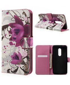 ZTE Axon 7 Wallet Cover Suojakotelo, Red Plum.