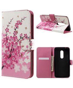 ZTE Axon 7 Wallet Cover Suojakotelo, Pink Plum.