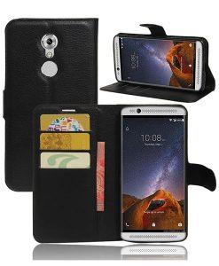 ZTE Axon 7 mini Wallet Cover Suojakotelo, Musta.