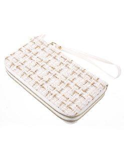 Universal 5.5 inch Wallet Pouch Käsilaukku, Valkoinen.