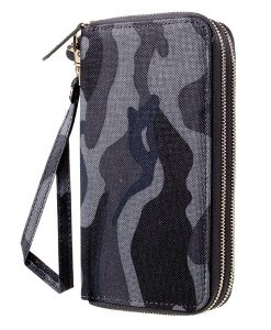 Universal 5.5 inch Wallet Pouch Käsilaukku, Dark Blue.