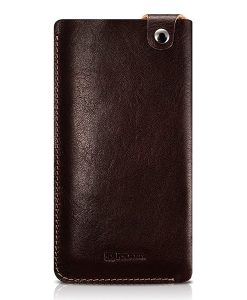 ICARER 5.5 inch Universal Leather Pouch, Coffee.