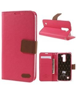 LG K10 Roar Korea Diary Wallet, Rose.