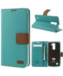 LG K10 Roar Korea Diary Wallet, Vihreä