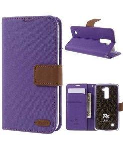 LG K10 Roar Korea Diary Wallet, Lila