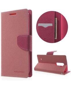LG K10 Mercury Goospery Fancy Diary, Pink.