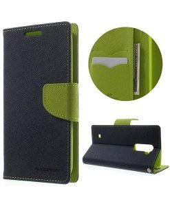 LG K10 Mercury Goospery Fancy Diary, Dark Blue.