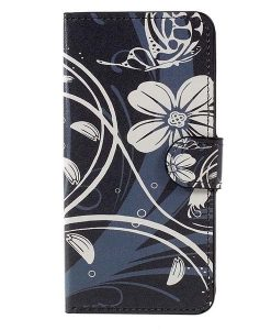 Huawei Honor 8 Lite Patterned Wallet, Black Plum.