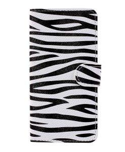 Huawei Honor 8 Lite Patterned Wallet, Zebra Stripes.
