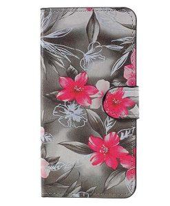 Huawei Honor 8 Lite Patterned Wallet, Grey Plum.