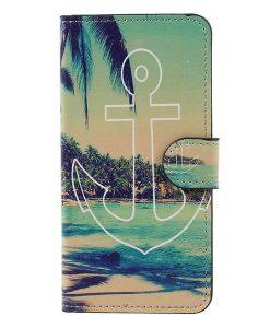 Huawei Honor 8 Lite Patterned Wallet, Seaside View.