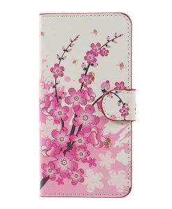 Huawei Honor 8 Lite Patterned Wallet, Pink Plum.