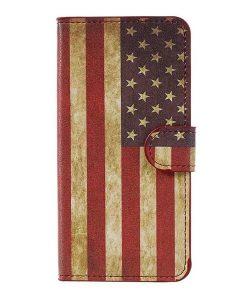 Huawei Honor 8 Lite Patterned Wallet, US Flag.