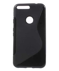 Google Pixel XL S Shape TPU Case, Musta.