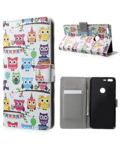 Google Pixel XL Wallet Cover Case, Owls 3.