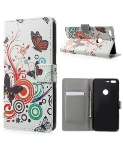 Google Pixel XL Wallet Cover Case, Circle Butterflies.