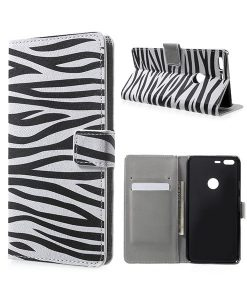 Google Pixel XL Wallet Cover Case, Zebra Stripes.