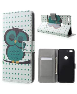 Google Pixel XL Wallet Cover Case, Owl 1.